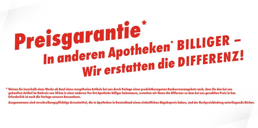 Ahorn-Apotheke Gotha - Preisgarantie