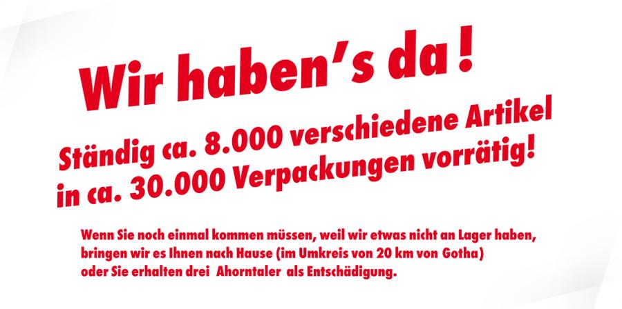 Ahorn-Apotheke Gotha - Wir haben es da!